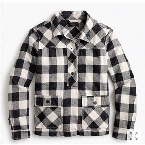 J. Crew flannel shirt jacket in buffalo check